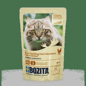 Bozita kjøttbiter i saus med kylling 85g 12pk