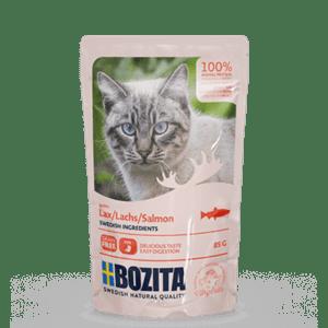 Bozita kjøttbiter i saus med laks 85g 12pk