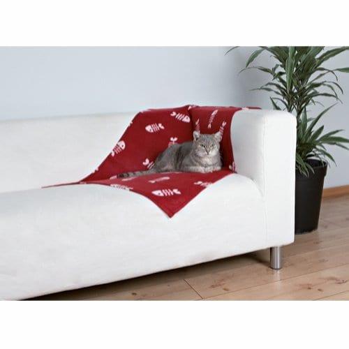Trixie Beaney Fleeceteppe til Hund/Katt Rød 100 x 70 cm