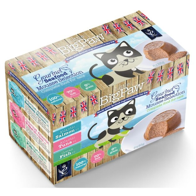 Little BigPaw Gourmet Seafood Mousse Selection 6x85g
