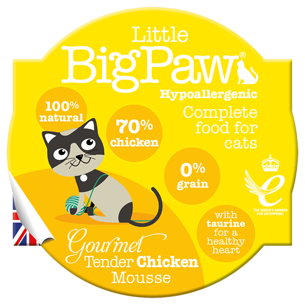 little big paw gourmet tender chicken mousse våtfôr