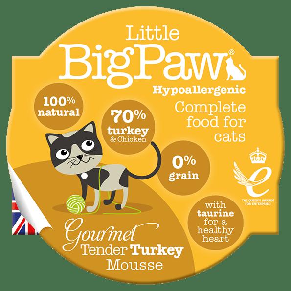 little big paw gourmet tender turkey mousse våtfôr