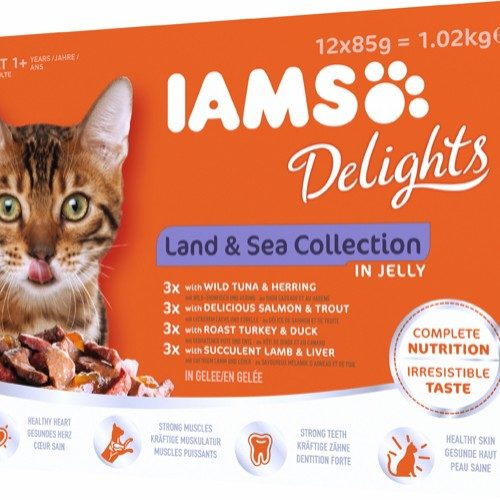 Iams Delights wet land&sea collection Jelly - Multibox