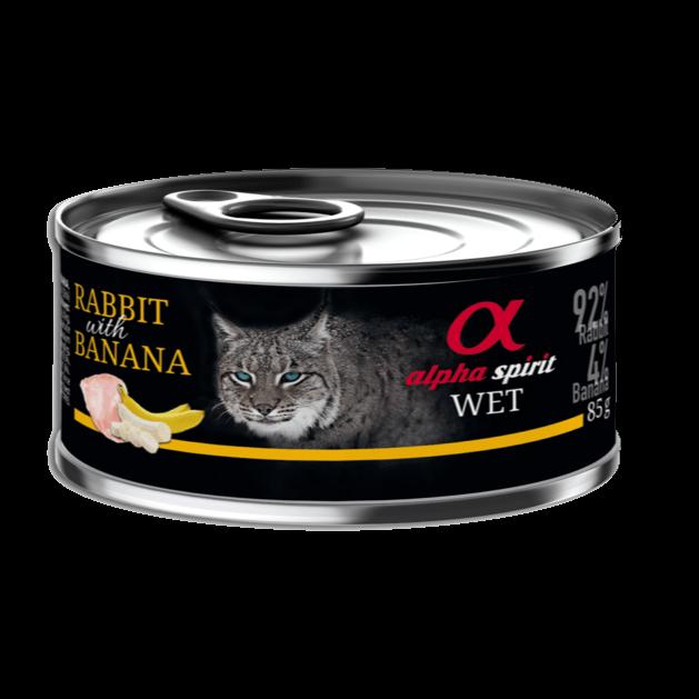 Alpha Spirit katt -kanin og banan-monoprotein