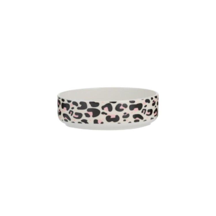 Keramikkskål Leopard