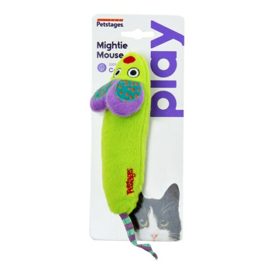 Petstages Green Magic Mightie Mouse katteleke