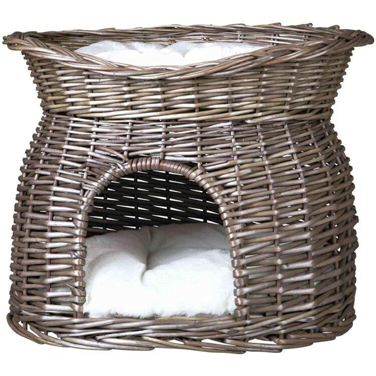 Kattehule i pil med seng 54 × 43 × 37 cm